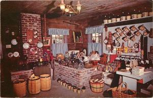 Homestead Iowa~Almas Washouse~Interior~Dolls~Brown Jugs~1950s Postcard