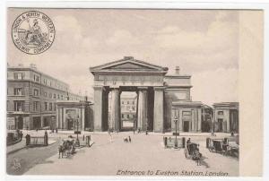 Euston Station Entrance LNW Railway London England UK 1905c postcard