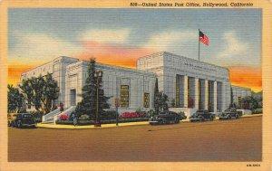 United States Post Office, Hollywood, California, Early Postcard, Unused