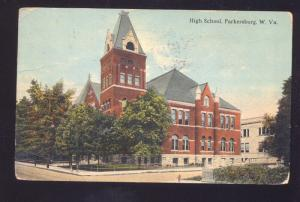 PARKERSBURG WEST VIRGINIA HIGH SCHOOL BUILDING VINTAGE POSTCARD CAIRO W.VA