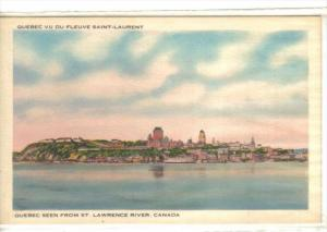 Quebec seen from St Lawrence River , Quebec , Canada , 30-40s