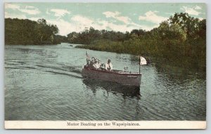 Independence Iowa~Motor Boating on the Wapsipinicon River~Gert Flag~1910 PC