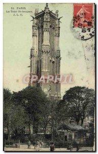 Old Postcard Paris St Jacques Tower