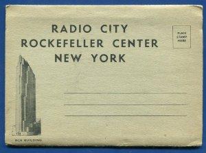 Radio City Rockefeller Center New York City ny observation Roof postcard folder