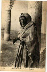 CPA AK TUNISIE Mendiant a l'Entrée d'une Mosquée (269011)