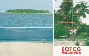 Boduhithi Maldives QSL Amateur Radio Postcard Card
