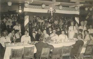 1916 Washington Supper Interior RPPC real photo patriotic Colonial Dames 3349
