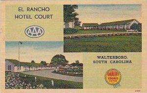 South Carolina Walterboro El Rancho Hotel Court