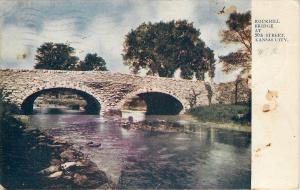 Kansas City Missouri~Rockhill Bridge At 50th Street~Stone Arches~1907 Postcard