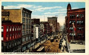 NY - Rochester. Main Street looking west from Franklin Street