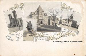 Providence Rhode Island~Cathedral-Columbus Statue~Sayles-Wilson Halls~Church~'05