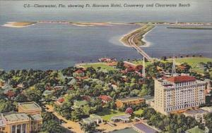 Florida Clearwater Showing Fort Harrison Hotel Causeway And Clearwater Beach