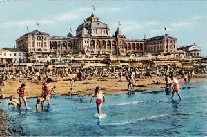 Netherlands, Hague, Scheveningen, Kurhaus, Grand Hotel, animated, bathing