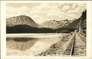 Alaska Railroad RR Tracks Censor Approved Real Photo Postcard L-36