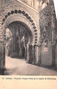 Spain Old Vintage Antique Post Card Mezquita Angulo Norte Cordoba Unused