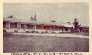 KNOB HILL MOTEL U.S. 150, NEW ALBANY, IN. Mr & Mrs Wm J Miller, owners