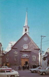 Eglise (1688) Church, Notre-Dame-des-Victoires, Quebec Canada, 1940-1960s