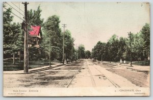 Cincinnati Ohio~Avondale Main Avenue~Work on Cars~Room at X~1911 Handcolored PC