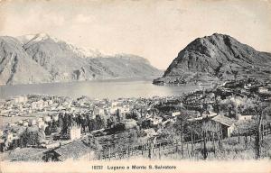 Switzerland Lugano e Monte S. Salvatore Mountains Panorama