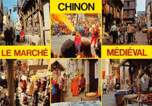 BR52421 Diverses asoects du marche medieval Chinon         France