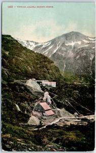 1910 Alaska Postcard Bird's-Eye View Gold TYPICAL ALASKA MINING SCENE Mitchell