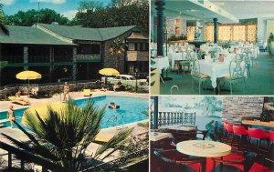 MOBILE AL Town House Motor Hotel Roadside Motel Alabama Postcard ca 1950s