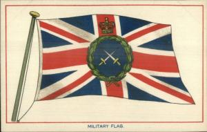 Military Flag E.F.A. EFA Series Coats of Arms & Flags c1910 Postcard EXC COND