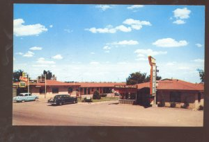 AMARILLO TEXAS SKYLINE MOTEL COFFEE SHOP ROUTE 66  ADVERTISING VINTAGE POSTCARD