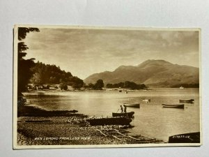 POSTED VINTAGE REAL PHOTO POSTCARD - BEN LOMOND FROM LUSS PIER  (KK562)