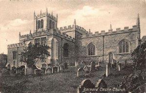 Barnard Castle Church Graveyard Postcard
