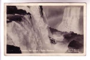 Real Photo, Cataratas Iguazu, Salto Floriano, Argentina, Photo G Bourquln