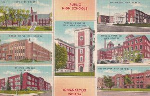 INDIANAPOLIS, Indiana, 1930-1940's; Public High School