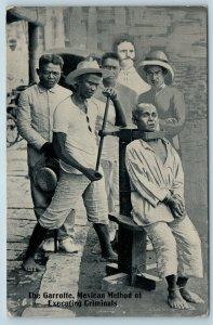 Postcard Mexico Garrotte Mexican Execution Method Death Sentence c1917 T3