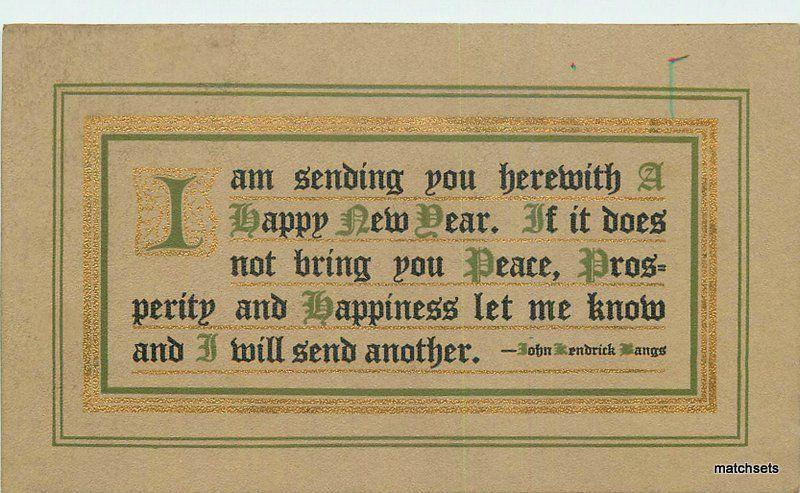 1911 arts crafts happy new year saying 1911 postcard 11566 davis