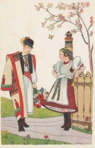 Native Couple , Hungary 1910-20s