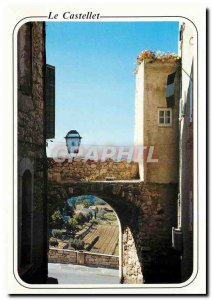 Modern Postcard the sun on the French Riviera Le Castellet Medieval Village