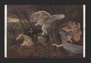 078538 King of Semi-NUDE ELF & HORSE by SCHWIND Old Ackermann