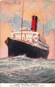 R.M.S. Carinthia   Cunard Line