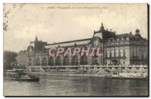 Old Postcard General view Paris from Gare d'Orleans VII