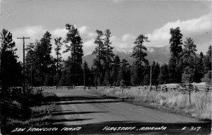Flagstaff Arizona San Francisco Peaks 1940s RPPC Photo #E-317 Postcard 9944