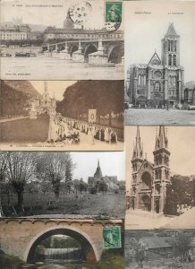 France Lyon, Lourdes, Saint-Denis and more Postcard Lot of 23 with RPPC 01.02