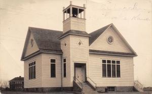 Macksville Kansas~Methodist Episcopal ME Church~Gadding & Visiting~1928 RPPC