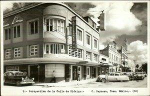 C. Reynosa Tams Mexico Calle de Hidalgo 1940s-50s Real Photo Postcard