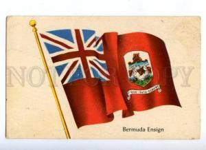 172060 BERMUDA Ensign National Flag Vintage postcard