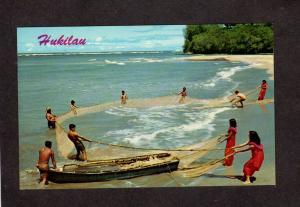 HI Hawaii Postcard Hawaiian Hukilau Fishing Postcard