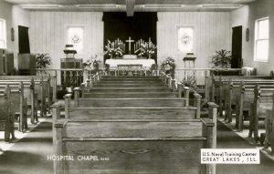 IL - Great Lakes. US Naval Training Center, Hospital Chapel Interior. RPPC