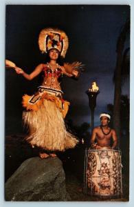 Postcard FL Walt Disney World Polynesian Luau Tahitian Dancer K17