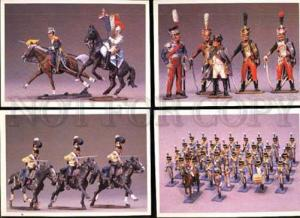004660 RUSSIAN Tin soldiers collection of 21 OLD postcards