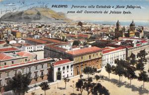 BR93362 palermo panorama colla cattedrale e monte pellegrino italy
