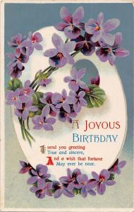 A Joyous Birthday, greetings, true sincere wish, fortune, flowers